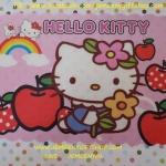 แผ่นยางรองจานทานอาหาร ฮัลโหลคิตตี้ Hello Kitty ขนาด 43 ซม. * 29 ซม. ลายฮัลโหลคิตตี้ผลไม้