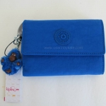 สินค้าพร้อมส่ง » กระเป๋าสตางค์ Kipling PIXI Color 423 COBALTY tri-fold wallet **สีจริงอ่อนกว่าในรูป