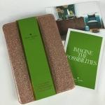 สินค้าพร้อมส่งจาก USA » Kate Spade iPad mini 3 Bifold hardCase glitterbug WIRU0383 rosegold717