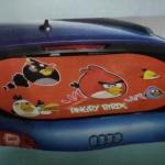 บังแดดกระจกหลังรถยนต์ แองกี้เบิร์ด Angry bird สีแดง