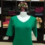 """เสื้อยืดแขน3ส่วน size""""L"""" สีเขียวมินต์"""