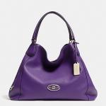 สินค้าพร้อมส่ง » กระเป๋า Coach 33547 LIVIO Edie Pebbled Leather Shoulder Bag Gold/violet