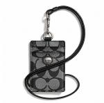 สินค้าพร้อมส่ง » ที่ใส่ ID CARD COACH F68661 SBWBK PEYTON SIGNATURE LANYARD ID CASE สีดำ