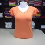"""เสื้อยืด size""""L"""" สีส้มอ่อน"""