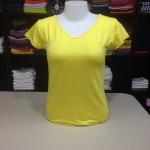 """เสื้อยืด size""""L"""" สีเหลืองดอกคูณ"""