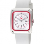 นาฬิกา Puma Women's Take Pole Position White Dial White Silicone. PU102562004