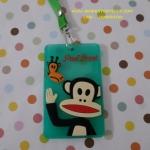 ซองใส่บัตรต่างๆ พร้อมสายคล้องคอ ขนาด 10 ซม. * 6 ซม. ลายลิงปากกว้าง