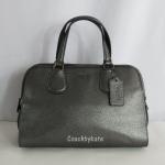 สินค้าพร้อมส่งจาก USA » กระเป๋า COACH F35964 QB/GM Metallic Leather Nolita Satchel Crossbody GUNMETAL