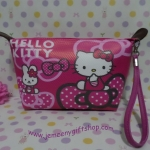 กระเป๋าเครื่องสำอางค์ กระเป๋าเอนกประสงศ์ ฮัลโหลคิตตี้ Hello kitty ขนาดกว้าง 6 ซม. * ยาว 21 ซม. * สูง 12 ซม.