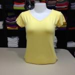 """เสื้อยืด size""""L"""" สีเหลืองอ่อน"""