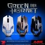 เม้าส์ เกมเมอร์ Mouse AJazz Green Hornet เม้าส์เกมเมอร์ ดีไซน์สุดล้ำ สีดำ