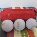 กระเป๋าใส่ลูกกอล์ฟ Coach SIGNATURE DENIM GOLF BALL SET