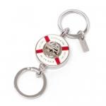 พวงกุญแจ COACH F92902 SV/MC Boat Life Preserver Nautical Turnlock Valet Keychain Keyring