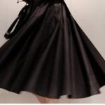 กระโปรงผ้าฝ้าย sundress สีดำ เนื้อดีมีซับใน
