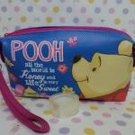 กระเป๋าเครื่องสำอางศ์ กระเป๋าเอนกประสงศ์ หมีพูห์ pooh ขนาดกว้าง 5 ซม. * ยาว 20 ซม. * สูง 11 ซม. ลายหมีพูห์