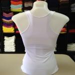 เสื้อกล้ามหลังสปอร์ต สีขาว