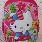 กระเป๋าเป้สะพายหลังลายนูน 3D ฮัลโหลคิตตี้ Hello Kitty ขนาดสูง 14 นิ้ว