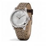 นาฬิกา COACH WOMAN Maddy Stainless Steel Signature Khaki Watch NO: W6002