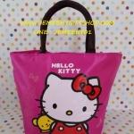 กระเป๋าถือหูหิ้วใบกลาง ฮัลโหลคิตตี้ Hello kitty#5 ขนาดกว้าง 14 ซม. * ยาว 31 ซม. * สูง 36 ซม. ลายคิตตี้หมีโบว์ชมพู