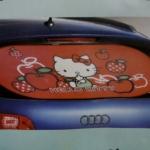 บังแดดกระจกหลังรถยนต์ ฮัลโหลคิตตี้ Hello Kitty ลายคิตตี้แอปเปิ้ล สีแดง