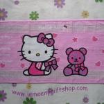 ผ้าขนหนูผืนเล็ก ฮัลโหลคิตตี้ Hello kitty#9 ขนาดกว้าง 33 ซม. * ยาว 62 ซม. ลายฮัลโหลคิตตี้หมี พื้นชมพู