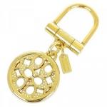 พวงกุญแจ COACH F92959 B4/C6 Crystal Pave Op Art Pierced Key Chain Ring FOB