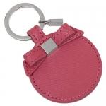 สินค้าพร้อมส่ง » พวงกุญแจ COACH F62504 SV/SY Pink Leather Bow Mirror Key Chain Ring FOB