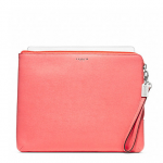 สินค้าพร้อมส่ง » กระเป๋าใส่ iPad COACH F65076 SV/CO หนัง SAFFIANO สีโอรส *มีกระเป๋าเข้าคู่*