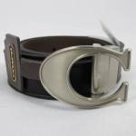 สินค้าพร้อมส่ง : เข็มขัดชาย COACH MEN'S F66108 SBKMA Black Genuine Leather Signature Belt