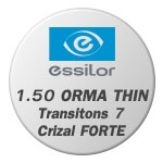 1.50 ORMA THIN Transitons 7 Crizal FORTE UV
