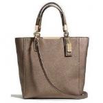 สินค้าพร้อมส่ง » กระเป๋า COACH 29001 RIBRZ Saffiano Leather Madison Mini N/S Tote, Light Bronze