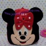 กระเป๋าเป้สะพายหลังใบเล็กจิ๋ว มินนี่เม้าส์ Minnie mouse ขนาดกว้าง 5 ซม * ยาว 22 ซม * สูง 22 ซม สำหรับเด็กเล็ก 2-3 ขวบ