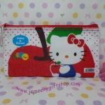 กระเป๋าใส่ดินสอปากกา ฮัลโหลคิตตี้ Hello kitty ขนาดยาว 21 ซม.* สูง 11 ซม. ลายฮัลโหลคิตตี้แอปเปิ้ล