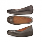 สินค้าพร้อมส่ง : รองเท้า FitFlop Women's Due Leather Ballet Flat Color: Pewter US6.5