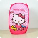 ตะกร้าผ้าพับได้ ขนาดใหญ่ ฮัลโหลคิตตี้ Hello Kitty ไซส์ 35*35*60 ซม.