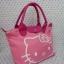 กระเป๋าถือหูหิ้ว ฮัลโหลคิตตี้ Hello kitty#2 ทรง LC ขนาด กว้าง 14 ซม. * ยาว 35 ซม. * สูง 22 ซม. สีชมพู ลายหน้าคิตตี้โบว์ thumbnail 4