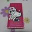 กระเป๋าสตางศ์ใบยาว ฮัลโหลคิตตี้ Hello kitty#11 ขนาด 7.5 นิ้ว x 4 นิ้ว ลายคิตตี้โบว์แดง พื้นชมพูเข้มจุดดำ ซิปรอบ thumbnail 1