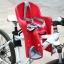 เบาะเสริมจักรยาน สำหรับเด็ก แบบติดตั้งด้านหน้า สีแดง