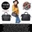 Anello mini boston 2-way bag Pu leather Color Black At-h1021 กระเป๋าอะเนลโล่สะพายข้างและถือขนาดเล็กหนังเทียม สีดำ thumbnail 1