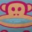 ผ้าเช็ดตัวผืนใหญ่ ลายลิงปากกว้าง ขนาด 140*70 ซม. thumbnail 2