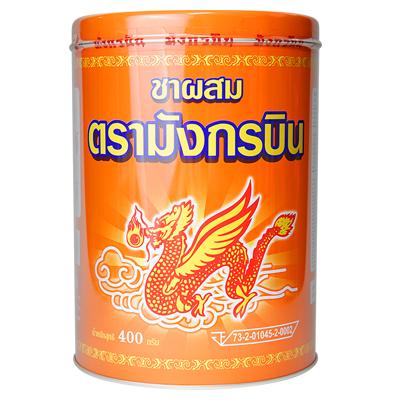 ชาไทย ชาแดง ผงชาไทย ชงชาดำเย็น ชานมเย็น แบบกระป๋อง ตรา มังกรบิน 400 กรัม รหัส 1053